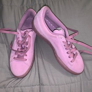 Basically Brand New Pink Suede Pumas